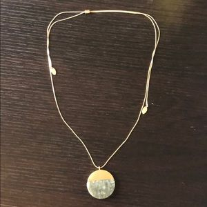 Adjustable Grey Stone Necklace